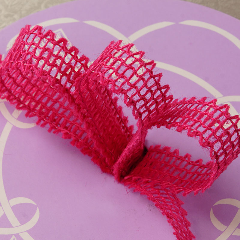 """7/8"""" X 25 Yards Mesh Hot Pink Wired Burlap Ribbon by Ribbons.com"""