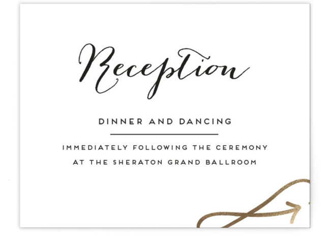 Modern Unity Foil-Pressed Reception Cards