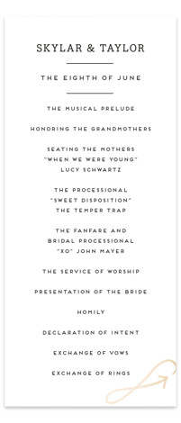 Modern Unity Foil-Pressed Wedding Programs