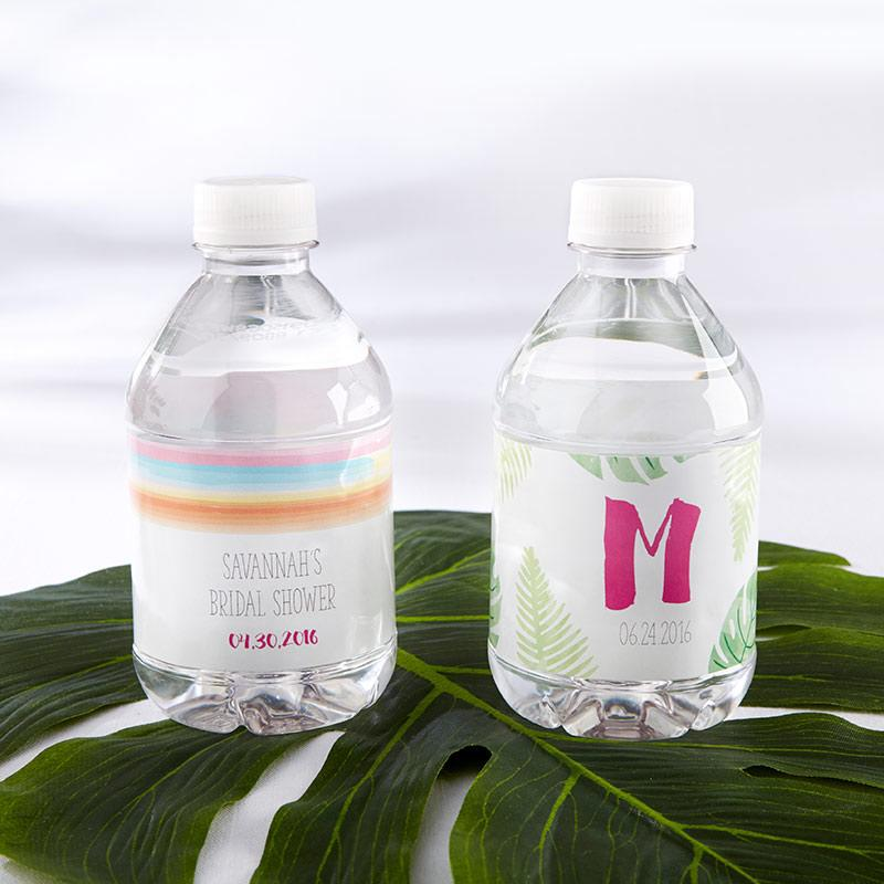 Personalized Pineapples & Palms Water Bottle Labels