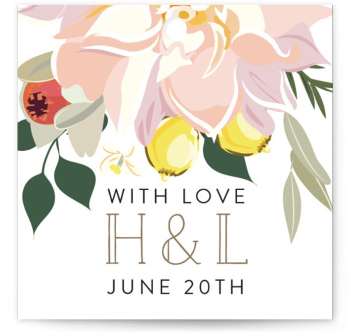 Spring Blooms Wedding Favor Tags