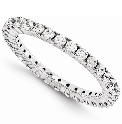 1 Carat Forever Diamond Eternity Band Ring in 14K White Gold