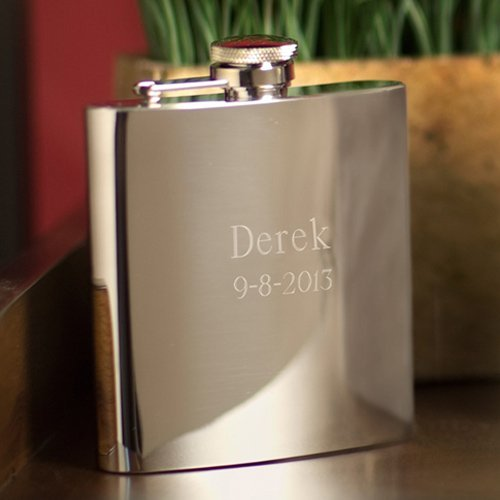 Personalized High Polish Stainless Steel Flask