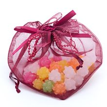 Clear Wine Heart Favor Bags - 4-3/4 X 6-1/4 - Satin - Quantity: 20 - Fabric Bags by Paper Mart