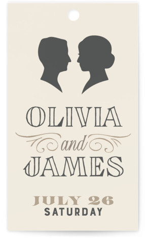Vintage Silhouettes Wedding Favor Tags
