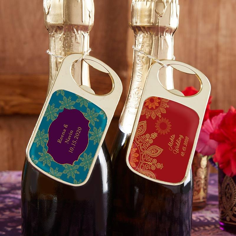 Personalized Indian Jewel Gold Bottle Opener