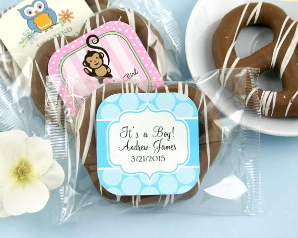 Personalized Exclusive Baby Gourmet Pretzels (Many Designs Available) / My Wedding Favors
