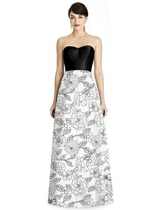Special Order Seamed Bodice Floral Skirt A-Line Dress with Pockets