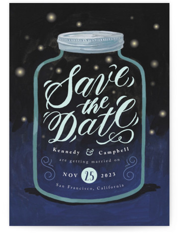 Firefly Mason Jar Save The Date Postcards