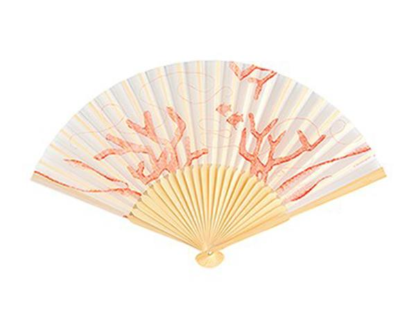 Beach Fan with Delightful Underwater Seascape (Set of 6)