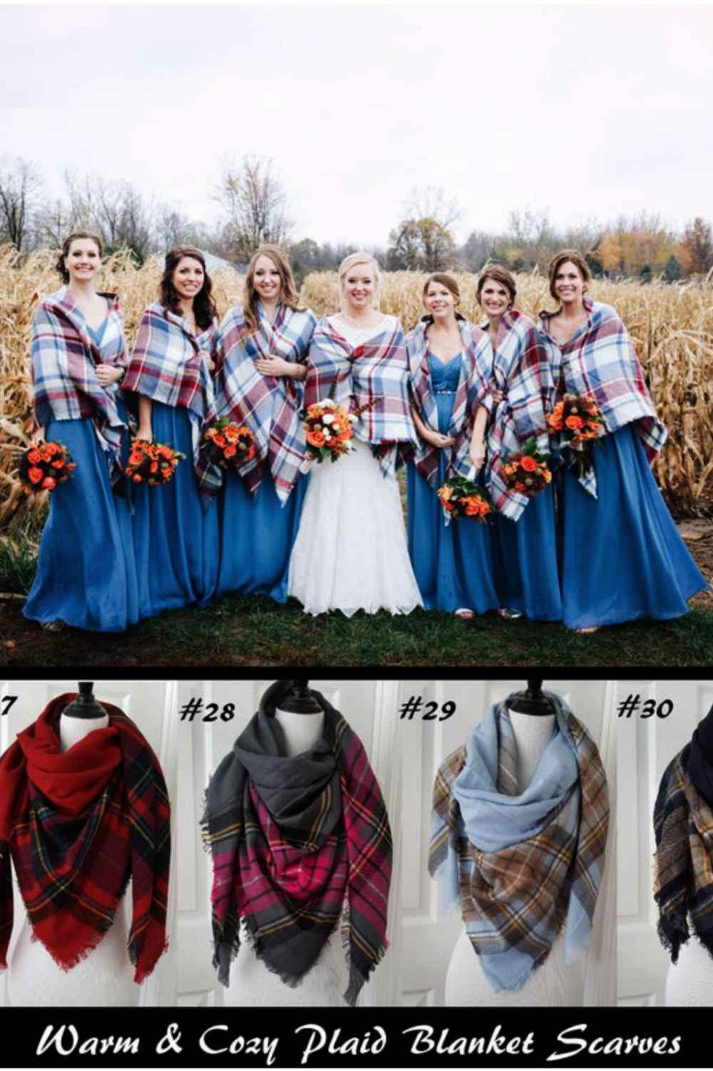Wedding Blanket Scarves for Bridesmaids