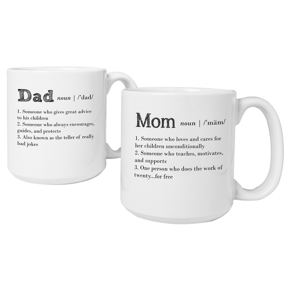 Mother's Day and Father's Day White Coffee Mugs
