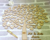 Heart Tree GuestBook, Tree Of Hearts Wedding Guest Book, Alternative Wedding Guest Book, Personalised Wooden Guestbook, Heart Guest Book