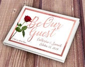 Personalised Rose Gold Be Our Guest Wedding Guest Book