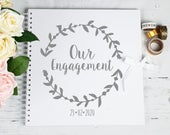 Engagement gift, Couple gift, personalised scrapbook, wedding gift, photo album, Engagement guest book, Personalised gift, Polaroid album