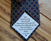 Free Shipping Dad Tie patch, Suit Label, Personalized Tie Patch, Father of the Groom, Thank You Dad Label, stepdad, bride, iron on tie patch