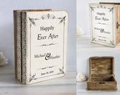 Personalized Card Box, Rustic Keepsake Box Wooden Chest Small Wedding Card Box Custom dvice box Memory box Favors box Anniversary gift