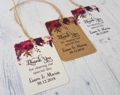 Personalised Boho Wedding Favour Tags, Thank You For Sharing Our Special Day, Cute Flower print, Autumnal Wedding Decor, TGS156