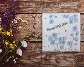 Pack of Forget Me Not Seeds gift GiftQuirky illustrated nature inspired giftsGrow your own flowers giftBirthday GiftMothersday gift