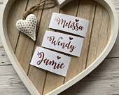 Script personalised name decal, Wine glass name sticker, Custom name decal, Wedding decal, Bridesmaid Box decal, Balloon decal, DIY Bride
