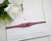 Dusky Pink Rose Flower Headband Photo Prop Christening Headband Wedding Wedding Hair Baby Headband Girls Hair Accessories