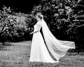 Beautiful Bridal Boutique Single Layer Floor Length Ivory Wedding Veil Various Finishes 79