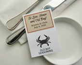 To Love and Old Bay, Personalized Maryland Wedding Favors, diy Herbs and Spices Favors