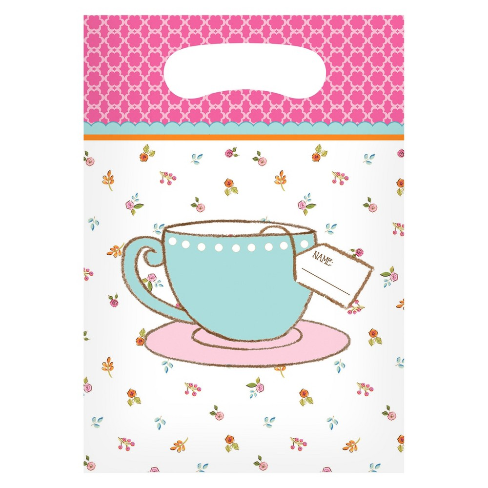 8ct Tea Time Favor Bags, gift bags