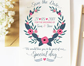 Elegant Blush and Navy save the date, floral save there date, save the date, save the day, wedding invitations, wedding, floral invites