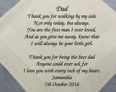 Handkerchiefs personalised for men wedding gifts custom for dad father of the bride any message embroidered unique presents