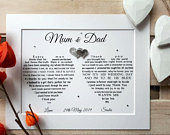 Parents of the Groom Gift, Printable Wedding gifts for parents, Mother and Father of the Groom, Bride and Groom thank you to parents