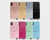 Personalised Initials Custom Hard Phone Case Ombre Printed Glitter Luxury Sparkly Name iPhone 11 5 5s SE 6 6s 78 X Xs Xr Samsung Motorola