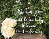 Wedding Memorial Table Sign, Memorial Table Sign Wedding Remembrance In Memory Of Wedding Memory Table Sign Loved Ones In Heaven