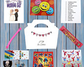 Personalised Childrens Kids Wedding Activity Pack Party Bag Favour Favor Box WB8