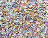 Pastel Rainbow Biodegradable Confetti Baby Shower Wedding Party Decorations Bulk Throwing Table Decor (25 Handfuls)