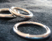 3mm 4mm 5mm thick full round sterling silver ring band, simple wedding bands, stacking ring or thumb ring, heavy
