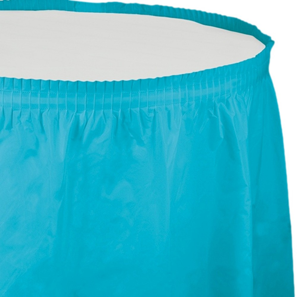 Bermuda Blue Table Skirt, party decorations and accessories