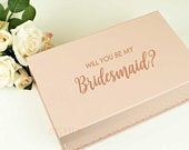 Bridesmaid proposal decal sticker ONLY for gift box, will you be my maid of honor, honour, groomsman, custom name or wedding role vinyl