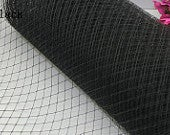 Birdcage Veil Net wedding blusher netting, fascinators and millinery 1 yard Black, accesorrize, hat trim