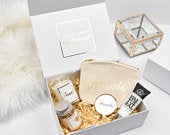 Personalised Gold Bridesmaid Proposal Gift Box, Luxury Filled Thank You Bridesmaid Box, Bridesmaid Gift Set, Wedding Thank You Gifts,