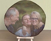 Fathers Day Wood Slice Photo Gift unique personalised wood photo print, a great gift for all Dads!