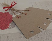 20 Buff Brown Luggage Label Tag Wedding Favour, Place Card, Wishing Tree Vintage Rustic