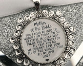 mother of the bride,groom personalised keepsake charm gift wedding keepsake,thank you,couldnt say i do without you,mom,mum,mam,dad,father