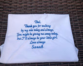 Personalised handkerchief, father of the bride gift, father of the bride handkerchief, dad gift, dad handkerchief, personalised gift