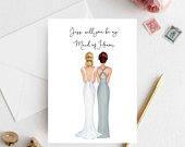 Customised Maid of honor Proposal , Wedding Party, Bridal Proposal Cards, Will You Be My Bridesmaid Cards, Bridesmaid Proposal Cards
