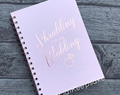 Rose Gold Shredding For The Wedding Planner Planning Notebook Miss Mrs Bride 12 Week Keepsake Weight Loss Journey Tracker Journal Meal Food