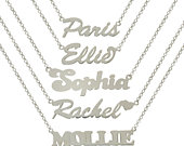 Sterling Silver Name Chain Personalised We Make any Name Belcher Necklace Gift Boxed