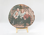 Family Wood Slice Photo Gift perfect personalised gift for Fathers Day