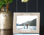 Personalised Silver Plated Photo Frame, Engraved Photograph Frame, AntiTarnish Silver Picture Frame, Mothers Day Gift, Wedding Party Gift
