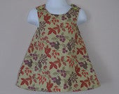 Little Mouse Dress, Floral Pinafore Dress, Reversible A Line Dress, Sizes 1 years, Party dress, Girls Mouse Dress